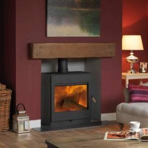 Fire cube bosworth wide in black