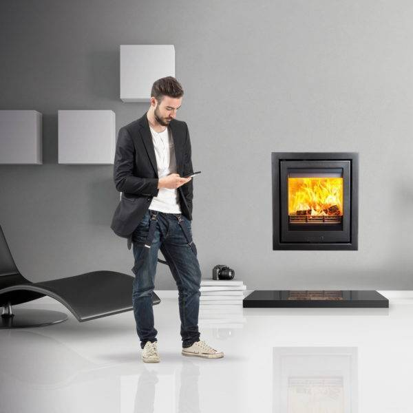 Di lusso R5 inset in grey wall