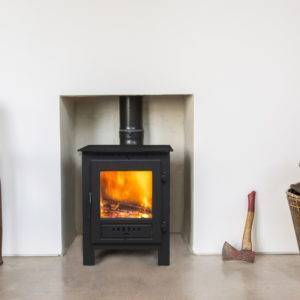 ESSE-1-Roomset-2 in solid fireplace