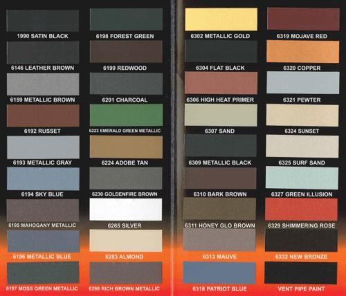Hobbit colour chart