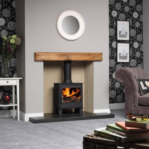 malvern 2 lit in wooden mantle fireplace