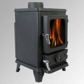 small hobbit stove lit